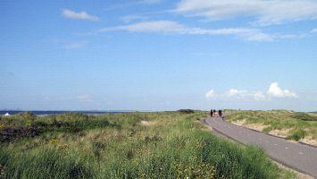 Renesse, der Deich bei Ouddorp bietet einen schönen Blick auf die Nordsee