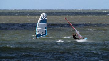 Renesse, Windsurfen am Brouwersdamm