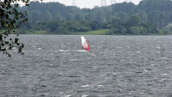Windsurfen in Roermond, Ool, Oolderplas