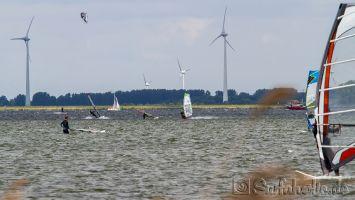 Harderwijk, Strand Horst, Windsurfen bei Westwind