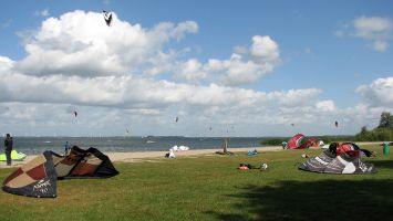 Kiten bei Strand Horst, Veluwemeer