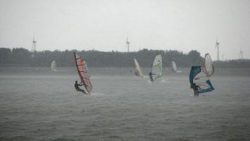 Strand Horst, vor dem Regenbogen :-)