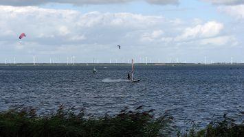 Windsurfen auf dem Veluwemeer bei Strand Horst
