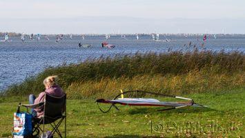 Windsurfen in Strand Horst / Harderwijk, November 2014