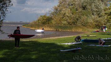 Windsurfen in Strand Horst / Harderwijk Oktober 2013