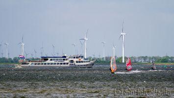 Windsurfen in Strand Horst, Harderwijk, Mai 2014