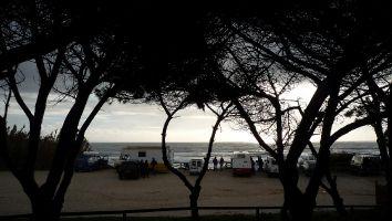 Idylischer Parkplatz am hostal Arte Vida, Tarifa