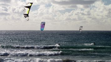 Tarifa, arte vida, kite waveriding