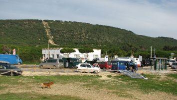 Caños de Meca, Parken am Windsurfspot