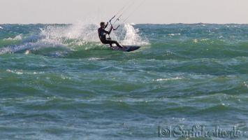 Los Caños de Meca, kitesurfen bei Levante 6-7 bft