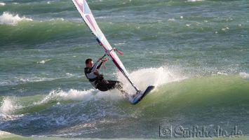 Los Caños de Meca, windsurfen bei Levante 6-7 bft