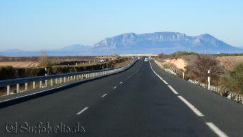 Tarifa, Fahrt durch die Sierra Nevada