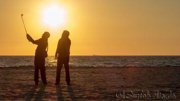 Tarifa, Playa Balneario, golfen am Strand