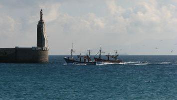 Tarifa, Playa Chica, Hafen