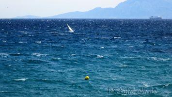 Tarifa, Playa Chica, windsurfen bei Levcante