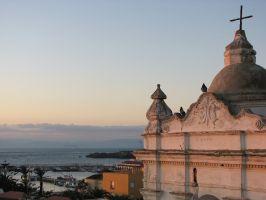 Tarifa, Blick über die Straße von Gibraltar nach Marokko