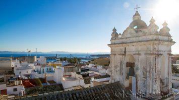 Tarifa, Blick vom El Beaterio auf die Straße von Gibraltar