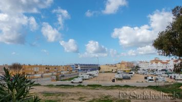 Tarifa, Wohnmobilparkplatz in der Stadt