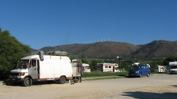Tarifa, Parkplatz an der Düne