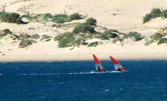 Tarifa, Windsurfen an der Düne