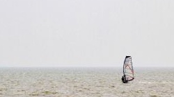 Windsurfen in Vollerwiek,<br />Eiderstedt